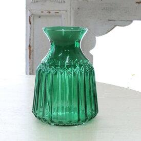 花瓶 おしゃれ ガラス アンティーク風 雑貨 コベントガーデン ベルデボトルベース ガラス花瓶 Φ10×高さ14.5cm /0511