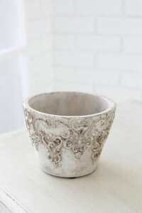 鉢 植木鉢 陶器 アンティーク ナチュラル おしゃれ ボタニカル ラウンドポット S 植木鉢 4号 Φ12.5cm×高さ9cm