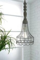 コベントガーデンウェアハウスペンダントアンティーク風照明シェード&灯具セット(40W電球付き)Φ20.5×高さ52cm