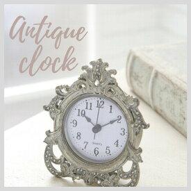 掛け時計 おしゃれ アンティーク風 雑貨 コベントガーデン グレージュジュエルクロック アンティーク置き時計 巾9×奥行4×高さ11cm 9月24日(木)入荷予定