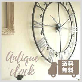壁掛け時計 おしゃれ 掛け時計 大きい アンティーク コベントガーデン アイアンダイヤル ラージクロック Φ73×奥行3cm