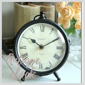 掛け時計 おしゃれ アンティーク風 雑貨 コベントガーデン 1863スタンドクロック アンティーク置き時計 巾13×奥行7×高さ15cm 9月27日(金)入荷予定