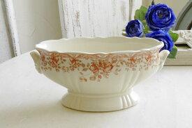 アンティーク風 雑貨 陶器 花瓶 ファミニン アンティーク柄ベース 口径8.5×20×高さ9cm