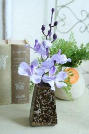 花瓶 おしゃれ 一輪挿し アンティーク風 雑貨 陶器 花瓶 和柄ベース ゴールドブラウン 巾6×奥行5.5×高さ9.5cm