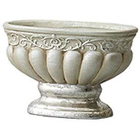 花瓶 おしゃれ アンティーク トラディショナルベース ビクトリアンオーバル アンティークシルバー 巾12×奥行5.5×高さ7.5cm
