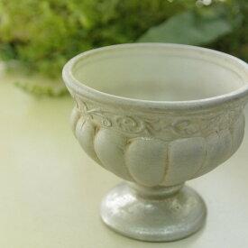 アンティーク風 雑貨 陶器 花瓶 トラディショナルベース ビクトリアン アンティークシルバー Φ10×高さ9cm