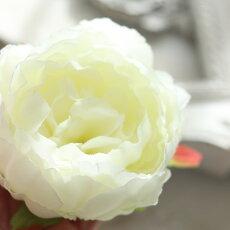 造花パーツコサージュ花材大量バラアーティフィシャルフラワーウェディング髪飾り撮影小物シャクヤクピオニー2個セット(レッド)