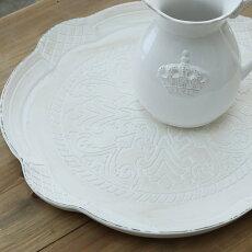 アンティーク風雑貨アンティーク風フレンチプレートアンティークホワイトL直径×高さ2cm