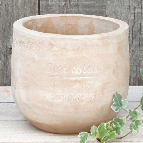 アンティーク風 雑貨 プランター CielBleuポット L ブラウン 陶器 花瓶 Φ25×高さ22.5cm