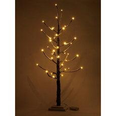 木枝ツリーブランチクリスマスツリーLEDライトスリムLブラウンΦ42cm×高さ93cm