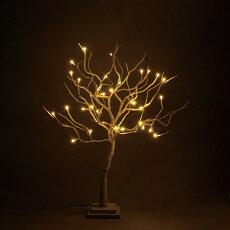 木枝ツリーブランチクリスマスツリーLEDライトSホワイトΦ50cm×高さ65cm