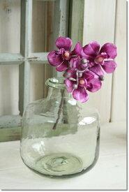 アンティーク風 雑貨 クラシカルグラス 丸型 ガラス花瓶 Φ14×高さ16.5cm