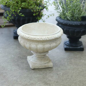 植木鉢 鉢 フレンチスタイル ナチュラル アンティーク風 寄せ植え プランター レジンフラワーベース カップ ホワイト L Φ26cm×高さ19cm 6号