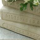 植木鉢 鉢 かわいい 可愛い フレンチスタイル ナチュラル アンティーク風 寄せ植え 洋書 ブックボックスプランター グレー系 巾25.5×奥行18.5×高さ14cm