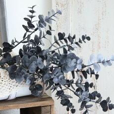 ユーカリブラック造花アートフラワーインテリアグリーン観葉植物フェイクグリーン消臭抗菌光触媒葉径1〜2cmX長さ58cm