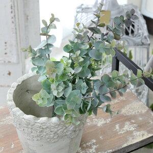 光触媒 ニュアンスユーカリ 造花 アートフラワー インテリアグリーン観葉植物 フェイクグリーン消臭 抗菌 光触媒 巾24cm×高さ34cm