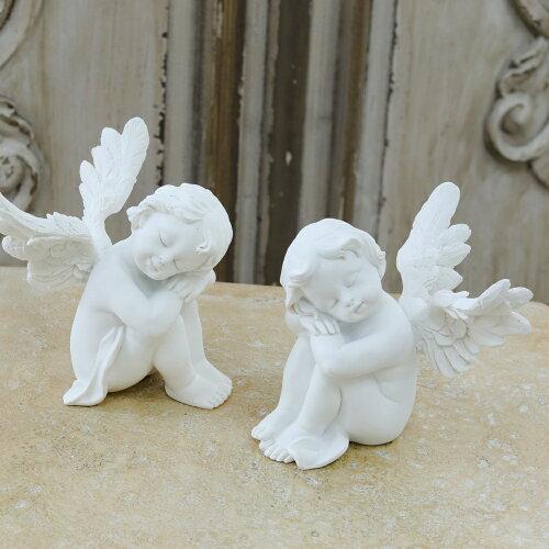 天使インテリアエンジェル眠るエンジェルセット(スピーピング)置物巾7.5×奥8×高さ9cmインテリアアンティーク調