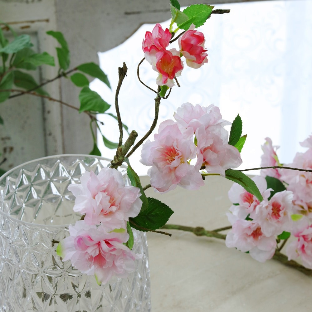 造花 桜 さくら 枝 小 インテリアグリーン 観葉植物 フェイクグリーン 造花 花径3〜5×高さ40cm