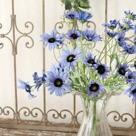 【メール便340円★】造花 ガーデンデージー 1本 花径3〜5.5XL43cm ラベンダーブルー