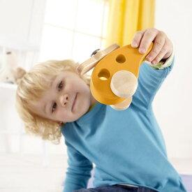 木のおもちゃ 飛行機 | どこまで飛ぶ? リトルコプター ハペ 木のおもちゃ hape 知育 10ヶ月 11ヶ月 1歳 赤ちゃん 幼児 子ども 子供 おもちゃ 玩具 男の子 木製 誕生日プレゼント ギフト 出産祝い 正規品 ドイツ