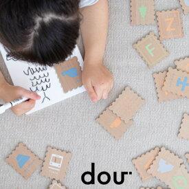 dou? ABC stamp 木のおもちゃ 木製 アルファベット 男の子 女の子 プレゼント ギフト 知育玩具 パズル