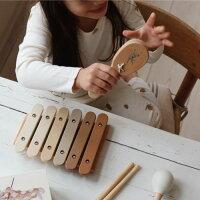 KongesSloejdコンゲススロイド楽器4点セットミュージックボックスMUSICSETおもちゃ収納ケースつきキッズ子供出産祝い誕生日プレゼントタンバリンミニ木琴マラカスカスタネット