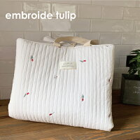 キルティングマット星の刺繍ibulベビーマットプレイマットカバーマルチカバーコットン刺繍スターストライプフリル