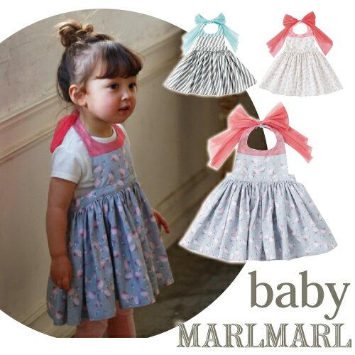 マールマール エプロン ブーケ Baby 3カラー(1.slash stripe_baby/2.white flower_baby/3.flamingo pink_baby) ボックス入り 女の子 0歳〜3歳 MARLMARL Bouquet