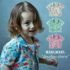 マールマール 新作 doudou shirts シャツ ドゥドゥ シャツ ベビー キッズ 赤ちゃん 女の子 男の子 0歳〜2歳 MARLMARL カラフル 夏 半袖 オープンフロント