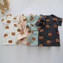 韓国子供服コムコムパジャマ【ネコポス可】 韓国 こども服 赤ちゃん ベビー 女の子 男の子 パジャマ クマさん アニマル 熊 2点セット …