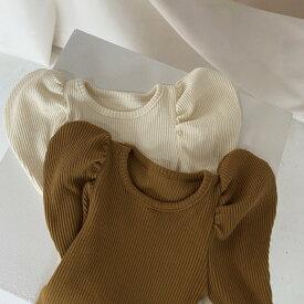 韓国子供服 パフニット 【ネコポス可】 韓国 こども服 赤ちゃん ベビー キッズ ジュニア 女の子 トップス Aosta アオスタ 秋冬