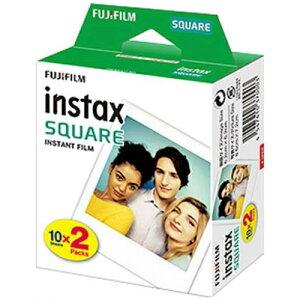 富士フィルム チェキスクエア用フィルム100枚 インスタントカラーフィルム instax SQUARE 20枚パックx5