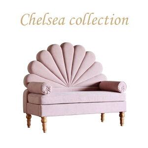 ベンチ チェア 2人掛け セッティ セティ アンティーク カントリー シェル シャビー ソファ フレンチ モダン ロココ 姫系 椅子 白家具 いす おしゃれ かわいい チェアー ロココ調 椅子 姫家具