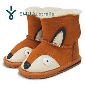 EMU エミュー ベビー ムートンブーツ BABY Fox Walker B12078 フォクス キツネ モチーフ ショートブーツ ファー ボア 女の子 男の子 キッズ 子供用 靴 EMU Australia 【あす楽対応】【送料無料】