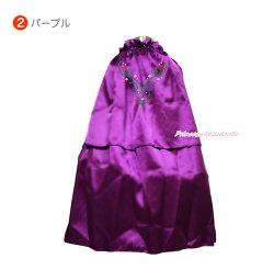【送料無料】テーマパークやイベントにも!背中のプリントが可愛い♪アナと雪の女王風ケープ(マント・ローブ)ベビー・キッズ用コスチューム。