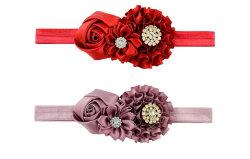 【送料無料】シェリープリンセス(CheriePrincess)ゴージャスサテンお花のヘアバンド