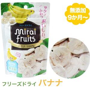 無添加 ばなな 12g 離乳食 ベビー 赤ちゃん おやつ 子供 キッズ ドライフルーツ 砂糖不使用 無糖 ミライフルーツ フリーズドライ バナナ