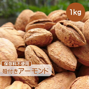 殻付きアーモンド 1kg 食塩 アーモンド 殻付き ロースト ナッツ 小分け ギフト チャック付き 大容量 送料無料 カトレヤフィールド