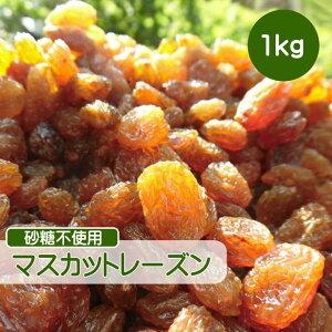 ドライフルーツ レーズン 1kg マスカットレーズン 砂糖不使用 無添加 ぶどう ブドウ 干しブドウ 無糖 大容量 ギフト チャック付き 送料無料