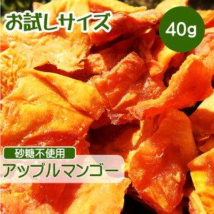 ドライフルーツ マンゴー 40g ポイント消化 砂糖不使用 無添加 アップルマンゴー 無糖 小分け ギフト チャック付き お試しサイズ