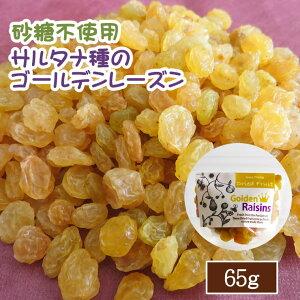 ドライフルーツ レーズン 65g ポイント消化 ゴールデンレーズン 砂糖不使用 ぶどう ブドウ 干しブドウ 無糖 小分け ギフト チャック付き