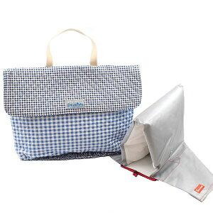 スカイチェック×ネイビーチェック 防災頭巾カバー 安心 安全 日本製《入園・入学》 rack