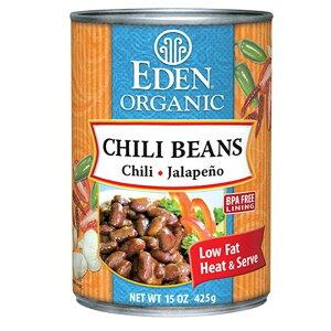 (エデン社)チリビーンズ缶 p39 (425g) /アリサン Alishan 【無添加・有機JAS・無漂白・オーガニックなどのドライフルーツやナッツ、食材が多数】