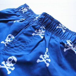 【送料無料】ザ・チルドレンズプレイス正規品(TheChildren'sPlace-S3)男の子らしいブルーにスカル柄がかっこいいトランクス水着