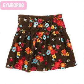 d29bae5937bde ジンボリー 正規品 Gymboree -2)コーデュロイの花柄ブラウンスカート インナーパンツ付き