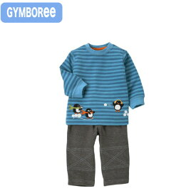 ジンボリー 正規品 Gymboree -2)ボーダー 長袖 トレーナー グレーパンツ ズボン 厚手綿100%上下セット(6M 12M 18M 24M 6ヶ月 12ヶ月 1歳 1才 2歳 2才 赤ちゃん)(70cm 80cm 90cm 95cm Gymboree)在庫処分