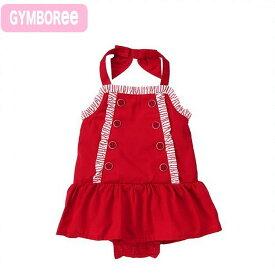 ジンボリー 正規品 Gymboree 10)真っ赤なサンドレス。首の後ろのリボンがキュート。ロンパースタイプのデザインです。(NB 3M 6M 9M 12M 18M 新生児 3ヶ月 6ヶ月 9ヶ月 12ヶ月 1歳 1才 赤ちゃん 女の子)(50cm 60cm 70cm 80cm 90cm 140110409)