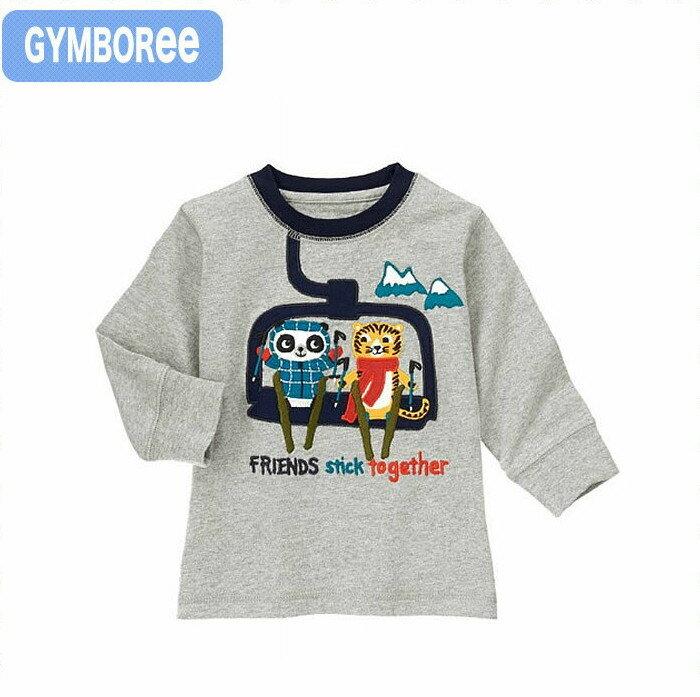 ジンボリー 正規品 Gymboree かっこいいグレーのパンダ&トラ柄の長袖トップス ロンT Tシャツ (NB 3M 6M 9M 12M 新生児 3ヶ月 6ヶ月 9ヶ月 12ヶ月 1歳 1 才 赤ちゃん 男の子用) (50cm 60cm 70cm 80cm Gymboree 140120308)【3】