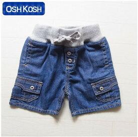 オシュコシュ正規品(OshKosh)ポケットがかっこいいデニムのハーフパンツ☆(1歳 1才 18M 2歳 2才 24M 2T 3歳 3才 3T 4歳 4才 4T 男の子用 子供)(80cm 90cm 95cm 100cm 110cm osh01 OshKosh)在庫処分