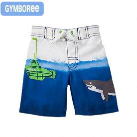 ジンボリー(Gymboree s-1)サメと潜水艦柄のトランクス水着!(6M 9M 12M 18M 6ヶ月 9ヶ月 12ヶ月 18ヶ月 1歳 1才 2歳 2才 2T 24M ベビー用 赤ちゃん用 男の子用)(80cm 90cm 95cm 100cm 110cm 241480303 Gymboree)